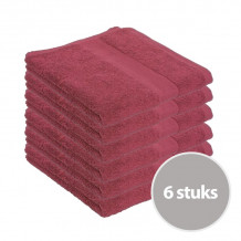 Clarysse Voordeelpakket Talis Handdoek Bordeaux 6 stuks