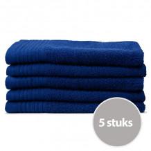 The One Gasten Handdoek 450 gram 30 x 50 cm Donker blauw (5 stuks)