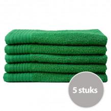 The One Gasten Handdoek 450 gram 30 x 50 cm Groen (5 stuks)