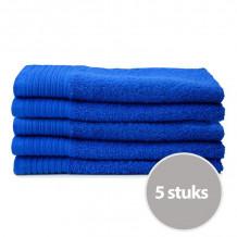 The One Gasten Handdoek 450 gram 30 x 50 cm Royal Blue (5 stuks)